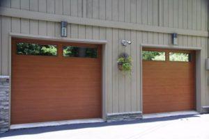 Wood Finish Residential Garage Doors