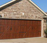Accufinish, wood style garage door installation