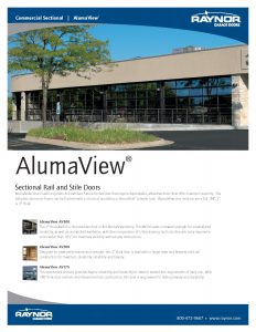 AlumaView ♦ Commercial Sectional Rail & Style Garage Doors by Raynor