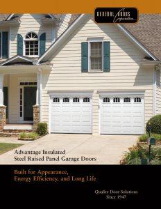 Advantage ♦ Insulated Steel Raised Panel Garage Doors