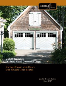 Cambridge Series ♦ Insulated Wood Composite Garage Doors