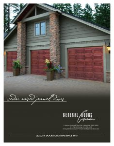 Cedar Raised Panel Garage Doors by General