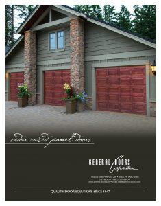 Cedar Raised Panel Garage Doors by General