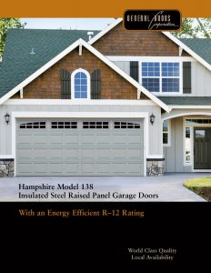 Hampshire Model 138 Insulated Steel Raised Panel Garage Doors