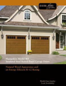 Catalog Hampshire ModelWF Insulated Steel Raised Panel Faux Wood Garage Doors by General