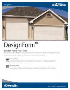 DesignForm ♦ Commercial Raised Panel Steel Garage Doors