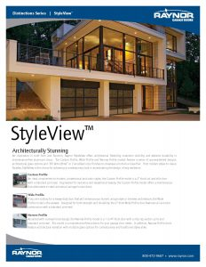Distinction Series StyleView Garage Doors