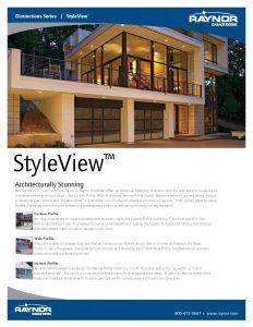 Distinction Series StyleView Garage Doors
