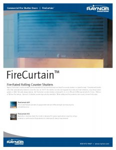 FireCurtain Rolling Counter Shutters by Raynor