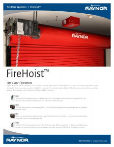 FireHoist Fire Door Operators by Raynor