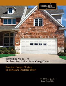 Hampshire Model 175 Insulated Steel Garage Doors by General