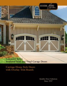 Lancaster Series ♦ Insulated Steel & Vinyl Garage Doors