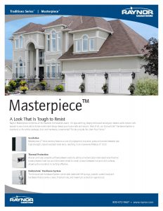 Masterpiece Steel Garage Doors with Accufinish Wood Veneer Options