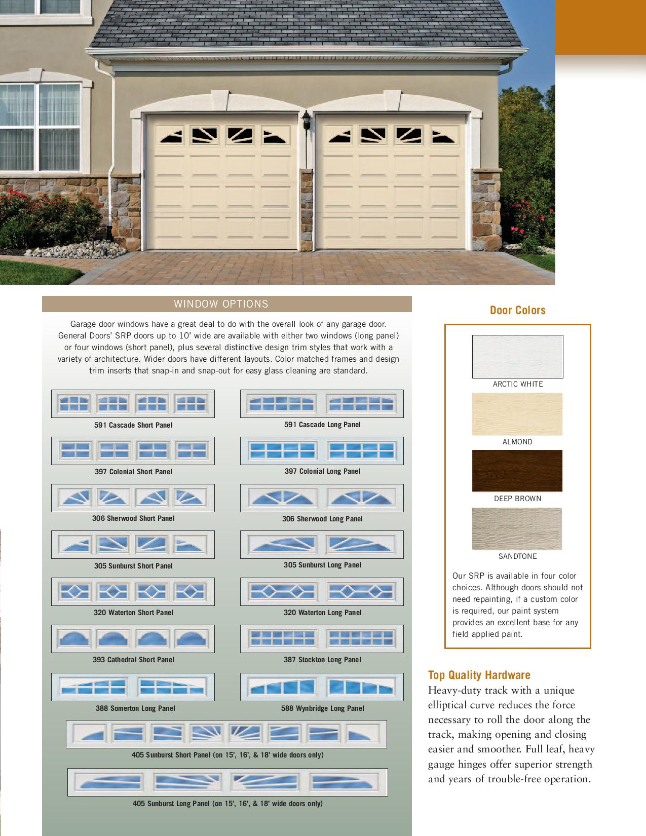 & Model SRP ? Steel Raised Panel Garage Doors by General