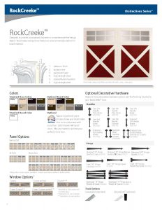 RockCreeke ♦ BiFold, Accordian & Swing Out Style Garage Doors