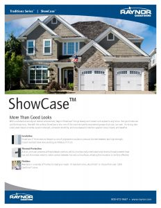 Tradition Series ♦ Showcase Wood Finish Steel Garage Doors