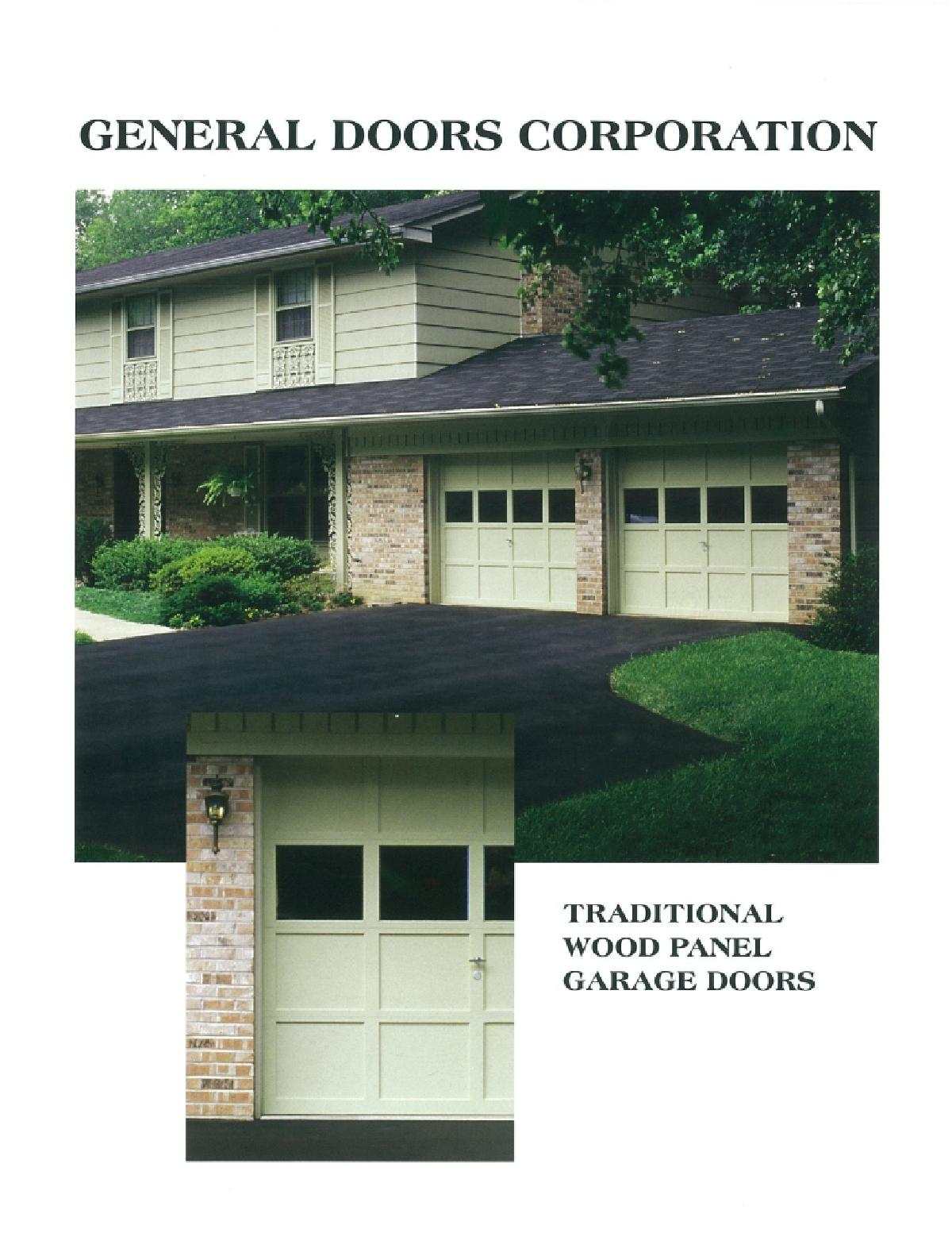 Traditional Wood Panel Garage Doors By General