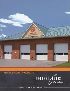 Weather Breaker Model175 Commercial Garage Doors by General