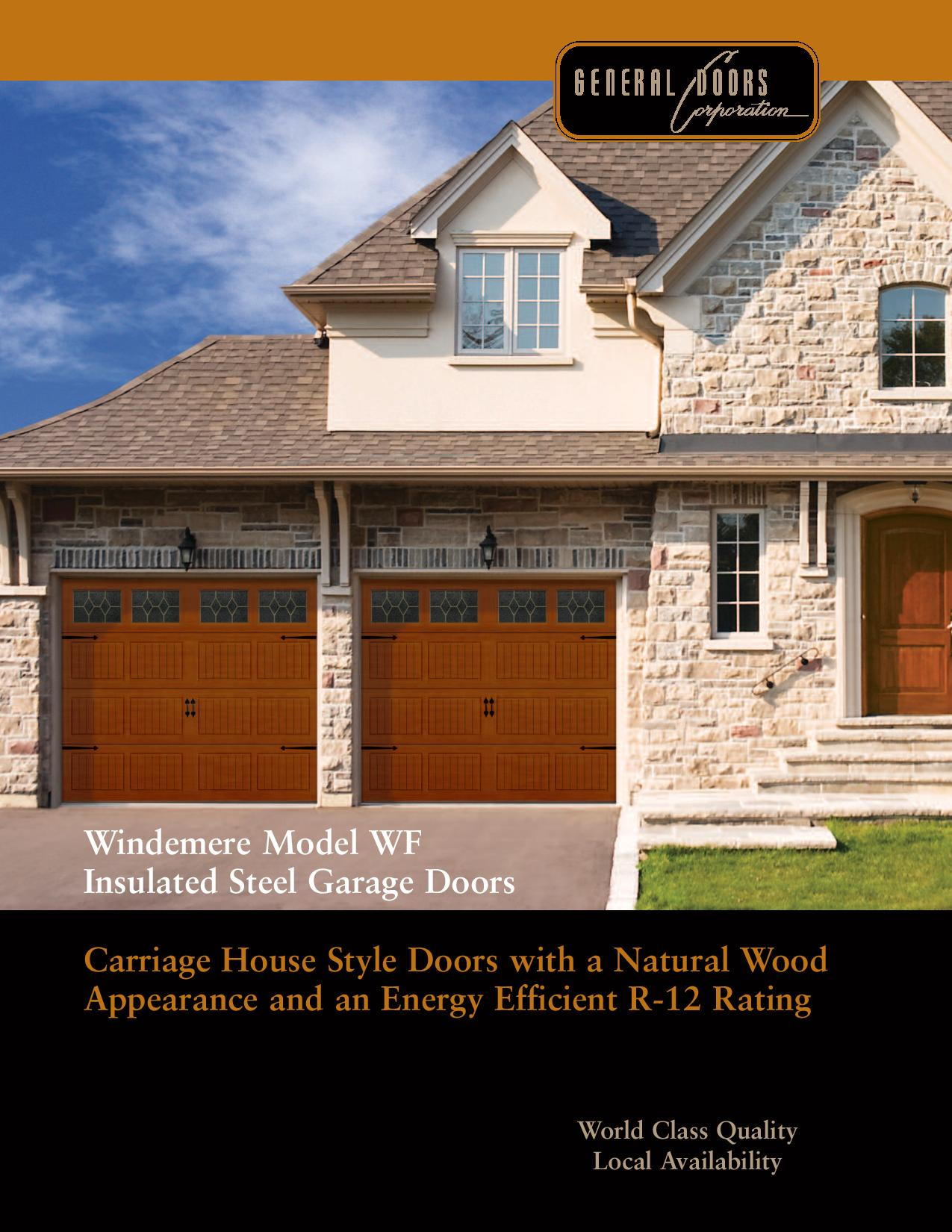 Windemere model wf insulated steel garage doors for Garage door repair cherry hill nj