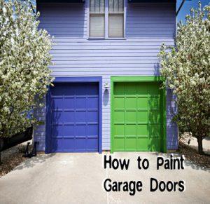 How do you Paint a Garage Door?