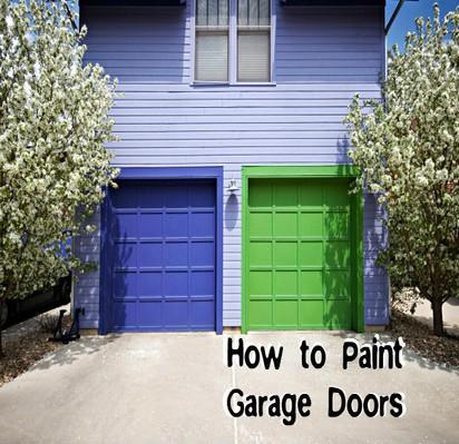 How to Paint a Steel or Aluminum Garage Door ♢ Garage Door Blog How To Paint Garage Door on best paint for garage door, paint my garage door, paint that looks like wood stain door, spray paint garage door, paint faux wood garage door,